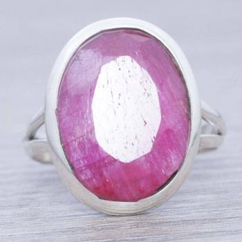 Anillo piedra hindú rubí...