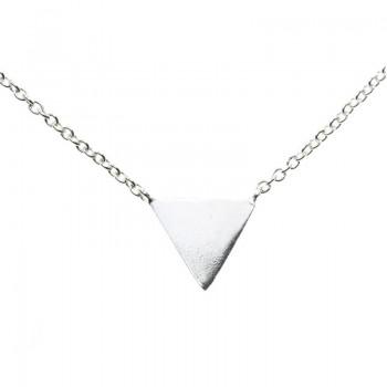 Collar triángulo Plata de...