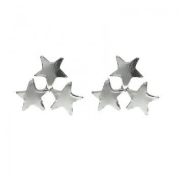 Pendientes triple estrella...