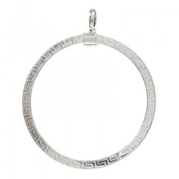Colgante círculo con greca...