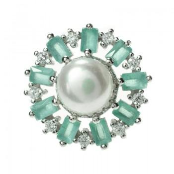 Pendientes perla natural y...
