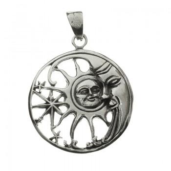 Colgante hippie Sol y Luna...