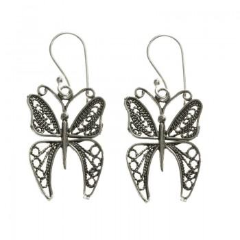 Pendientes largos mariposas...