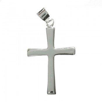 Colgante cruz lisa Plata de...