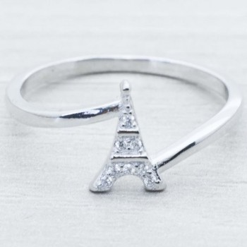 Anillo Torre Eiffel Plata...