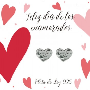 Pendientes LOVE YOU Plata...