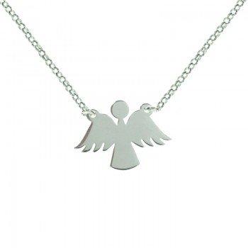 Collar silueta ángel Plata...