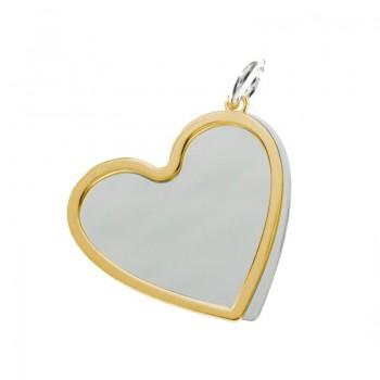 Collar corazón doble dorado...