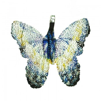 Collar mariposa con mensaje...