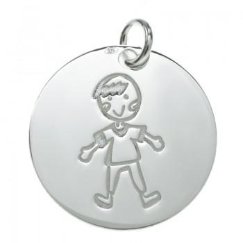 Colgante medalla niño Plata...