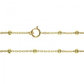 Tobillera dorada cadena de...