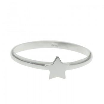 Anillo estrella plana Plata...