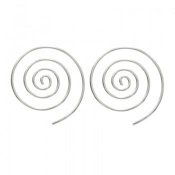 Pendientes aro espiral...