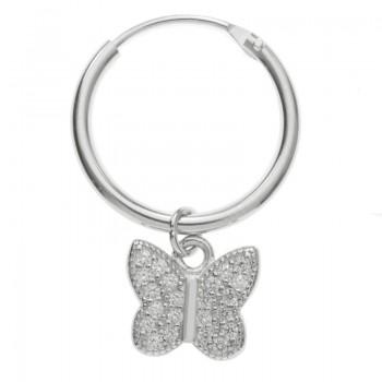 Pendientes aro con mariposa...