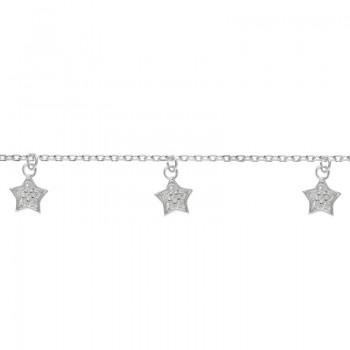 Pulsera 5 estrellas Plata...