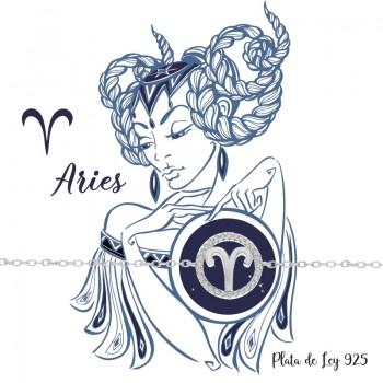 Pulsera Aries Plata de Ley 925