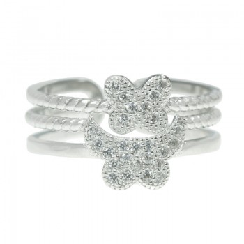 Anillo  mariposas ajustable...