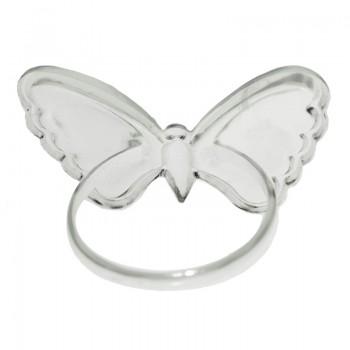 Anillo mariposa puntos...