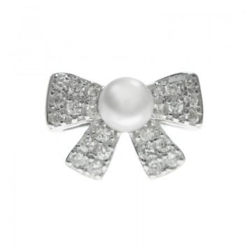 Pendientes lazo con perla