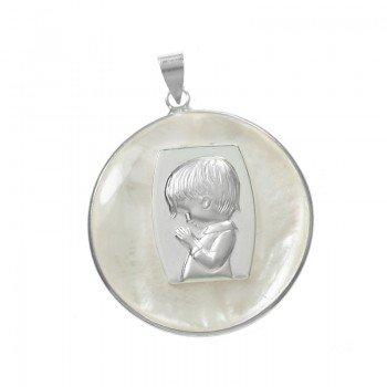 Medalla niño de nácar Plata...