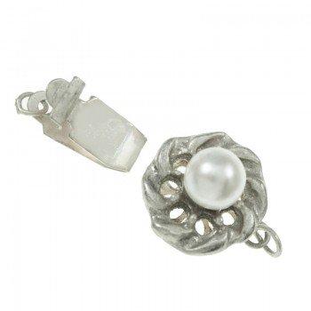 Broche click con perla