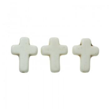 10 Abalorio cruz de cerámica