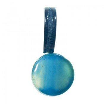 Ágata redonda azul