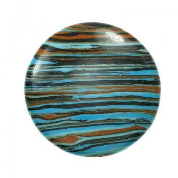 Abalorio redondo de cerámica