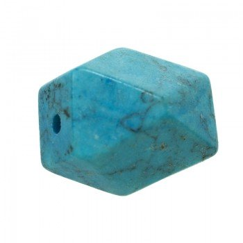 Abalorio geométrico turquesa