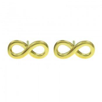 Pendientes dorados infinito