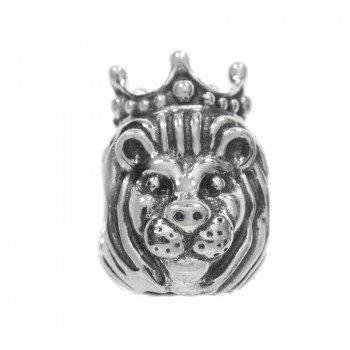 Charm león corona Plata de Ley
