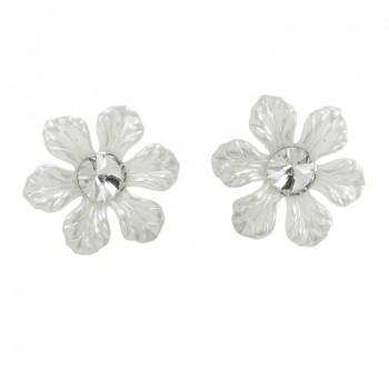 Pendientes flor blanca...