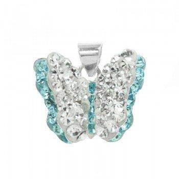 Colgante mariposa zirconia...