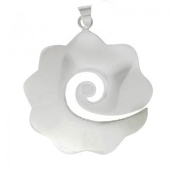 Colgante flor espiral Plata...