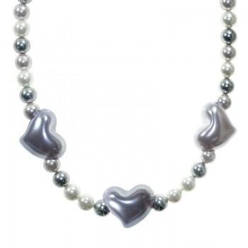 Collar perlas Shell Plata...