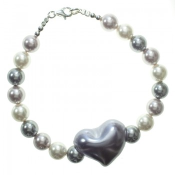 Pulsera perlas Shell Plata...