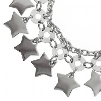 Pulsera estrellas acero...