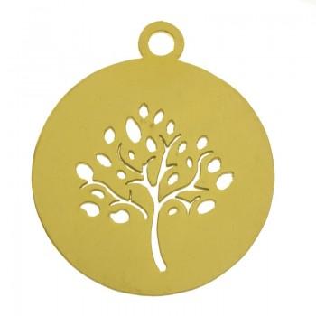 Colgante árbol dorado acero...