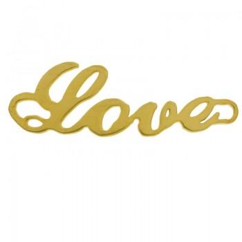 Entrepieza Love dorada...