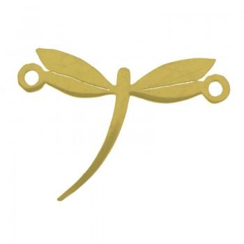 Entrepieza libélula dorada...