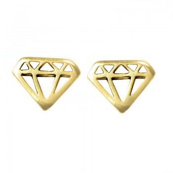 Pendientes diamante Plata...