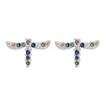 Pendientes libélula color...