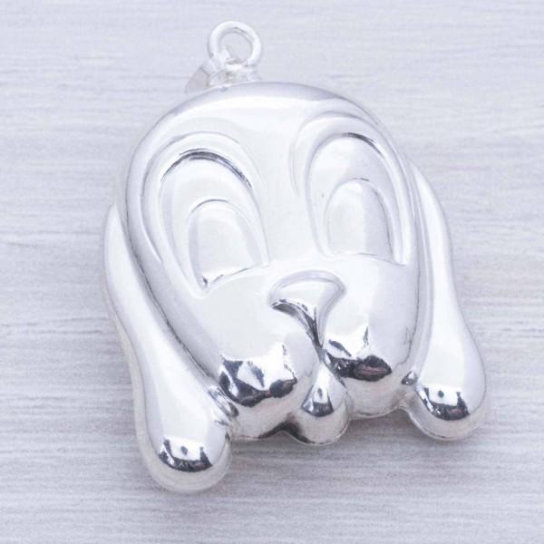 Colgante cara de perro electroforma Plata de Ley