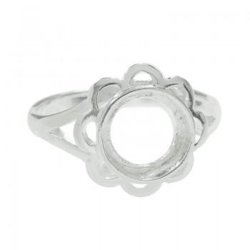 Base para anillo flor Plata...