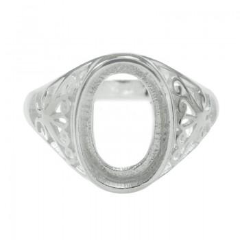 Base anillo oval arabesco...