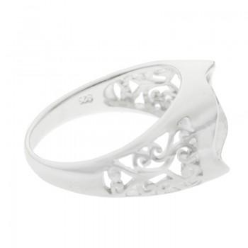 Base para anillo oval Plata...