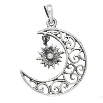 Colgante luna espirales...
