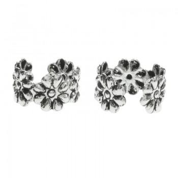 Pendientes ear cuff flores...