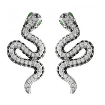 Pendientes serpiente glam...