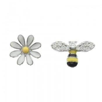 Pendientes abeja y flor...